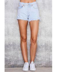 NA-KD Blue Vintage 501 Levis Shorts