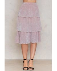 NA-KD - Pink Triple Layers Sparkle Skirt - Lyst