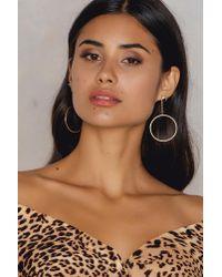 Shashi - Metallic Lauren Hoop Earrings - Lyst
