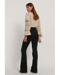 Trendyol Uitlopende Jeans Met Hoge Taille in het Natural