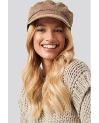 NA-KD Natural Accessories Corduroy Bakers Cap