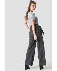 Trendyol Wide Belted Trousers in het Gray