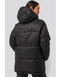 NA-KD Drawstring Padded Jacket Black