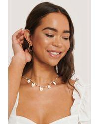 NA-KD Multicolor Accessories Farbige Perlen Muschelhalskette