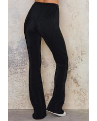 NA-KD Black Pleated Jazz Trousers