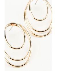 NA-KD - Metallic Oval Circles Earrings - Lyst