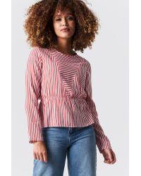 Rut&Circle Red Layla Stripe Blouse
