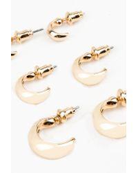 NA-KD | Metallic 3-pack Round Earrings | Lyst