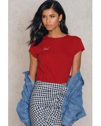 NA-KD | Red Girl Tee | Lyst
