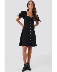 Trendyol Front Button Knot Detailed Dress in het Black