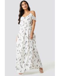 Rut&Circle Multicolor Flower Long Dress