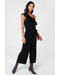 Rut&Circle - Black Ofelia One Shoulder Jumpsuit - Lyst