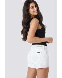 Calvin Klein White Mid Rise Weekend Shorts