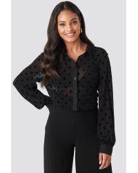 Rut&Circle Polly Dot Shirt in het Black
