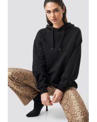 NA-KD Black Anna Nooshin x Straight Shape Oversized Hoodie