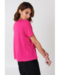 NA-KD - Basic Oversized Tee Strong Pink - Lyst