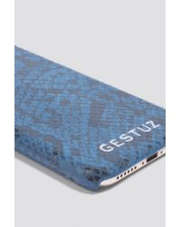 Gestuz - Blue Mobile Cover Leather - Lyst