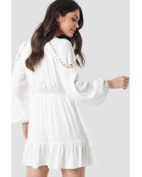 Trendyol Tulum Viscose Dress in het White