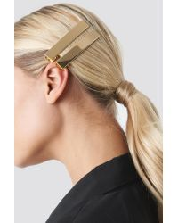 NA-KD Metallic Double Pack Squared Hairclip Gold