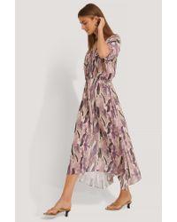 NA-KD Pink Boho Kaftan-Kleid
