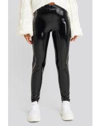 NA-KD Black Gerda x Wet Look Leggings