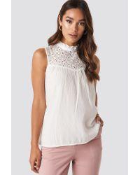 Trendyol Collar Detailed Top White
