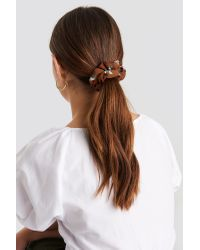 NA-KD Graphic Patterned Scrunchies Multicolor