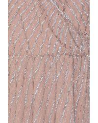 True Decadence - Pink Cold Shoulder Overlap Dress - Lyst