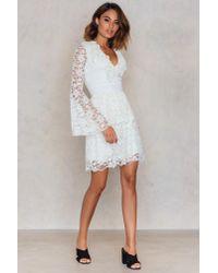 Trendyol White Ekru Lace Dress Ecru
