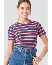 NA-KD Blue Babylock Striped Tee Multicolor