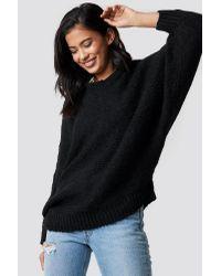 Trendyol Bat Sleeve Knitted Sweater in het Black