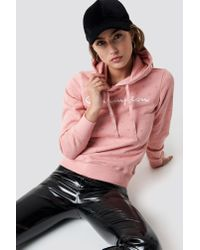 Champion - Pink Hooded Sweatshirt Rose Tan - Lyst