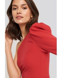 Trendyol One Sleeve Mini Dress Red