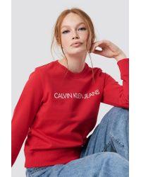 Calvin Klein Institutional Regular Crewneck in het Red