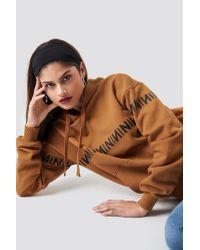 NA-KD Brown Trend N Branded Hoodie