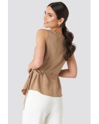Trendyol Natural Buckle Detailed Blouse Beige
