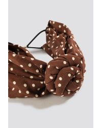 NA-KD Knot Detailed Hairband Brown