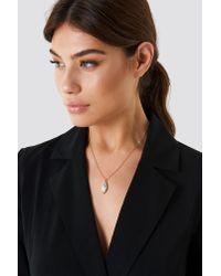 NA-KD - Metallic Diamond Drop Necklace - Lyst