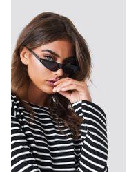 Small Cat Eye Sunglasses NA-KD en coloris Black