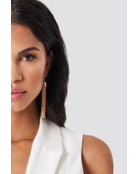 NA-KD - Metallic Tulips Hanging Chains Earrings - Lyst