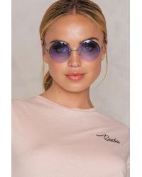 NA-KD - Purple Round Colored Sunglasses - Lyst