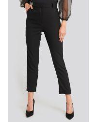 Yol Trousers Trendyol en coloris Black