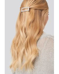 NA-KD Rough Surface Squared Hair Clip in het Metallic