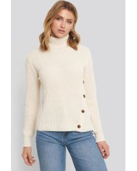 NA-KD Multicolor Side Buttoned Knitted Sweater