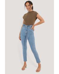 Rut&Circle Paperwaist Jeans in het Blue