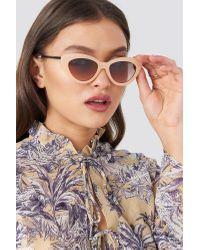 NA-KD Retro Cat Eye Sunglasses in het Multicolor