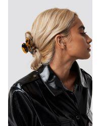 NA-KD Resin Look Hairclips Brown