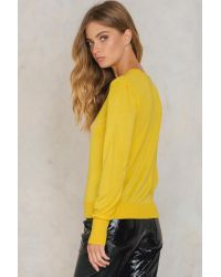 NA-KD Weekday Knitted Sweater Yellow