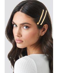NA-KD Metallic Multipack Basic Metal Hairpins Gold