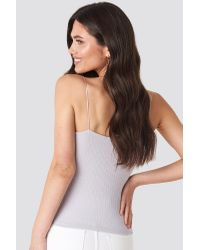 NA-KD Multicolor Front Ruched Ribbed Singlet